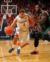 Virginia guard Maleek Frazier (4) during an NCAA basketball game Saturday Feb, 24, 2014 in Charlottesville, VA. Virginia defeated Miami 65-40.