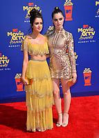 SANTA MONICA, USA. June 16, 2019: Laura Marano & Vanessa Marano at the 2019 MTV Movie & TV Awards at Barker Hangar, Santa Monica.<br /> Picture: Paul Smith/Featureflash