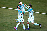 FC Barcelona's Luis Suarez, Leo Messi and Andre Gomes celebrate goal during Spanish Kings Cup semifinal 1st leg match. February 01,2017. (ALTERPHOTOS/Acero)