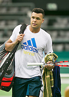 08-02-2014, Netherlands,Rotterdam,Ahoy, ABNAMROWTT,  Jo-Wilfried Tsonga (FRA) finished pratice<br /> Photo:Tennisimages/Henk Koster