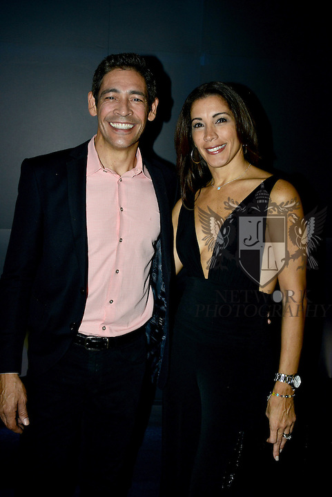 MIAMI, FL - OCTOBER 24: Johnny Lozada and Sandra Melendez is seen arriving to the Ricky Martin concert at American Airlines Arena on Saturday October 24, 2015 in Miami, Florida.  ( Photo by Johnny Louis / jlnphotography.com )