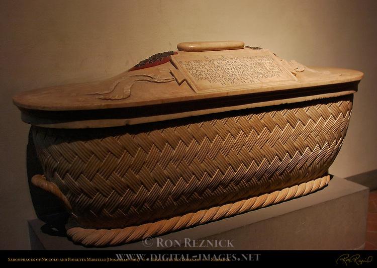 Sarcophagus of Niccolo and Fioretta Martelli Donatello 1464 Basilica di San Lorenzo Florence
