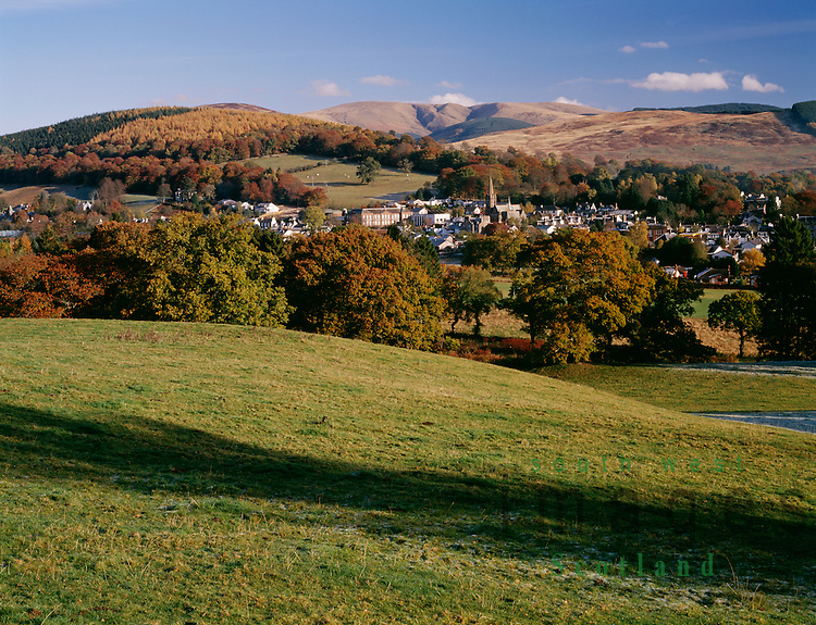 Autumn Scotland autumnal Moffat amoungest the hills with Swatte Fell in the Moffat Hills behind UK