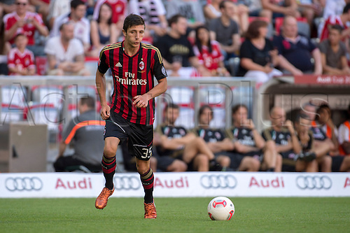 01.08.2013. Munich, Germany.  Davide Pacifico (Milan) Audi Cup 2013 match between AC Milan 1-0 Sao Paulo FC at Allianz Arena in Munich, Germany.