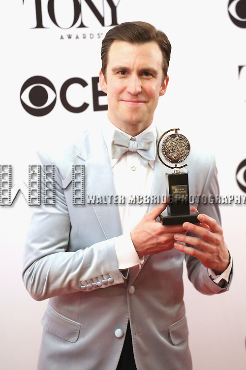 NEW YORK, NY - JUNE 11:  Gavin Creel poses with an award at the 71st Annual Tony Awards, in the press room at Radio City Music Hall on June 11, 2017 in New York City.  (Photo by Walter McBride/WireImage)
