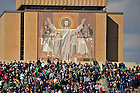 Oct. 29, 2011; Touchdown Jesus looks into Notre Dame Stadium...Photo by Matt Cashore