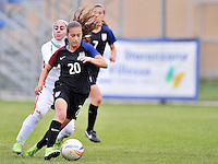 Monfalcone, Italy, April 26, 2016.<br /> USA's #20 Yates controls the ball during USA v Iran football match at Gradisca Tournament of Nations (women's tournament). Monfalcone's stadium.<br /> &copy; ph Simone Ferraro / Isiphotos