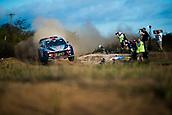 5th October 2017, Costa Daurada, Salou, Spain; FIA World Rally Championship, RallyRACC Catalunya, Spanish Rally; Dani SORDO - Marc MARTI of Hyundai Motorsport jumps in the shakedown
