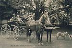 FB-S181  Jack London and Charmian London at Beauty Ranch, Glen Ellen, CA.     Circa 1916