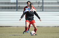 Boyds, Maryland - March 15, 2014. Kelsey Pardue of the Washington Spirit. The Washington Spirit during the Meet the Team at the Maryland SoccerPlex.
