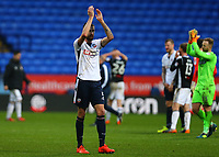 Bolton Wanderers' Mark Beevers applauds the fans after the 1-1 draw against Fulham<br /> <br /> Photographer Leila Coker/CameraSport<br /> <br /> The EFL Sky Bet Championship - Bolton Wanderers v Fulham - Saturday 10th February 2018 - Macron Stadium - Bolton<br /> <br /> World Copyright &copy; 2018 CameraSport. All rights reserved. 43 Linden Ave. Countesthorpe. Leicester. England. LE8 5PG - Tel: +44 (0) 116 277 4147 - admin@camerasport.com - www.camerasport.com