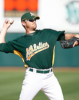 Jeff Baisley - Oakland Athletics - 2009 spring training.Photo by:  Bill Mitchell/Four Seam Images