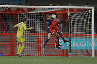 Crawley defend their goal during Crawley Town vs Fleetwood Town, Emirates FA Cup Football at Broadfield Stadium on 1st December 2019