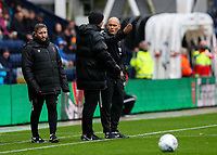 Preston North End manager Alex Neil  has a word with fourth official Andy Haines<br /> <br /> Photographer Alex Dodd/CameraSport<br /> <br /> The EFL Sky Bet Championship - Preston North End v Bristol City - Saturday 28th September 2019 - Deepdale Stadium - Preston<br /> <br /> World Copyright © 2019 CameraSport. All rights reserved. 43 Linden Ave. Countesthorpe. Leicester. England. LE8 5PG - Tel: +44 (0) 116 277 4147 - admin@camerasport.com - www.camerasport.com