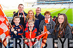 Cian Downey, Padraig O'Donnell, Joanne Downey, Shane O'Donnell, Brendan O'Donnell, Anna O'Donnell and Nicole Downey Brosna supporters at the Junior Football All Ireland Club Final in Croke Park on Saturday.