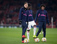 Mesut Ozil of Arsenal pre match during the UEFA Europa League match between Arsenal and Qarabag FK at the Emirates Stadium, London, England on 13 December 2018. Photo by Andy Rowland.