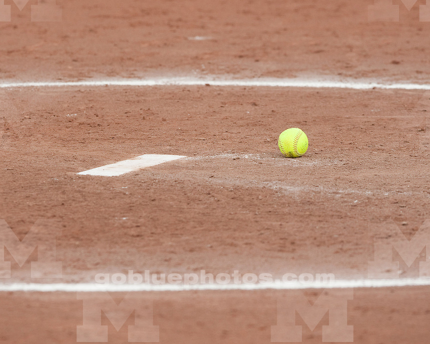 University of Michigan softball 4-2 loss to Iowa at Alumni Field in Ann Arbor on April 23, 2011.