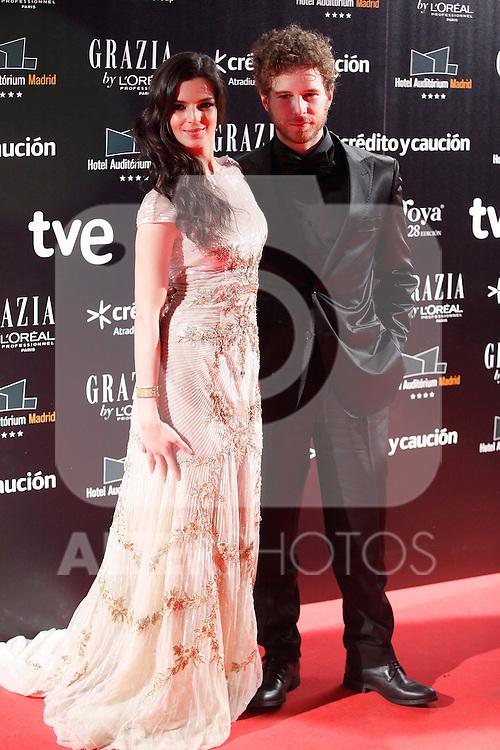 Actress Clara Lago attends Goya Cinema Awards 2014 red carpet at Centro de Congresos Principe Felipe on February 9, 2014 in Madrid, Spain. (ALTERPHOTOS/Victor Blanco)