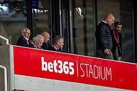 4th July 2020; Bet365 Stadium, Stoke, Staffordshire, England; English Championship Football, Stoke City versus Barnsley; Stoke Chairman Peter Keiran Coates of Stoke Coates watches his team