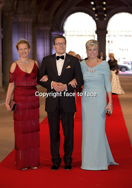 29-04-2013 Rijksmuseum Dinner offered by the Queen at the eregalerij at the Rijksmuseum in Amsterdam...Mabel, Constantijn and Laurentien....Credit: PPE/face to face..- No Rights for Netherlands -
