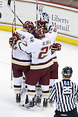 - The Boston College Eagles defeated the Merrimack College Warriors 7-0 on Tuesday, February 23, 2010 at Conte Forum in Chestnut Hill, Massachusetts.