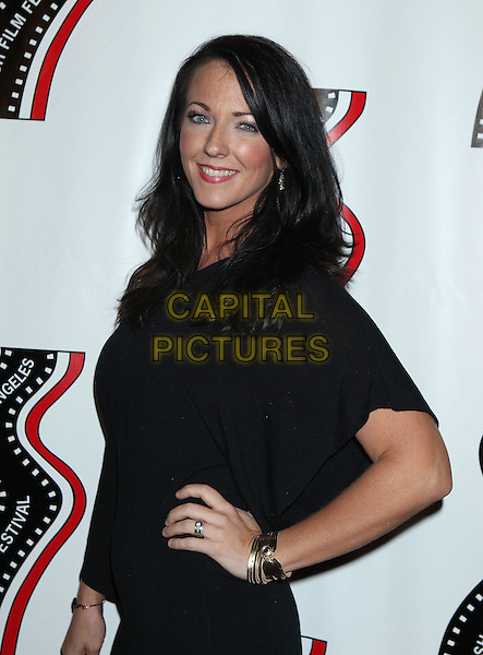 Stephanie Ronalds<br /> 13th annual Polish film festival at American Cinematheque's Egyptian Theatre, Hollywood, California, USA.<br /> 9th October 2012<br /> half length hand on hip dress black<br /> CAP/ADM/RE<br /> &copy;Russ Elliot/AdMedia/Capital Pictures