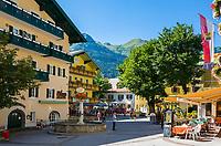Oesterreich, Salzburger Land, Pongau, Gasteinertal, Kurort Bad Hofgastein: Ortszentrum | Austria, Salzburger Land, Pongau region, Bad Hofgastein: village centre