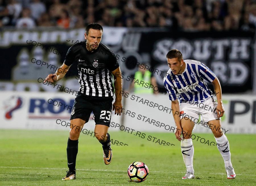 Fudbal UEFA Champions League season 2017-2018, Second qualifying round 1st leg<br /> Partizan v Buducnost (Podgorica)<br /> Bojan Ostojic (L)<br /> Beograd, 11.07.2017.<br /> foto: Srdjan Stevanovic/Starsportphoto &copy;