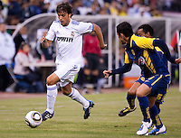 Pedro Leon dribbles the ball. Real Madrid defeated Club America 3-2 at Candlestick Park in San Francisco, California on August 4th, 2010.