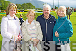 Pictured at Killarney Races on Monday, from left: Eileen O'Sullivan (Beaufort), Ann Burke (Tipperary), Patrick Dollaghan (Waterford) and Noreen Dollaghan (Waterford)..