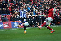 Jacob Murphy of Sheffield Wednesday crosses during Charlton Athletic vs Sheffield Wednesday, Sky Bet EFL Championship Football at The Valley on 30th November 2019