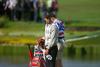 Straffin Co Kildare Ireland. K Club Ruder Cup...American Ryder Cup team member Tiger Woods on the 15th fairway on the opening fourball session on the first day of the 2006 Ryder Cup, at the K Club in Straffan, Co Kildare, in the Republic of Ireland, 22 September 2006..Photo: Eoin Clarke/ Newsfile..