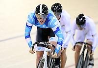 at the BikeNZ Elite & U19 Track National Championships, Avantidrome, Home of Cycling, Cambridge, New Zealand, Sunday, March 16, 2014. Credit: Dianne Manson