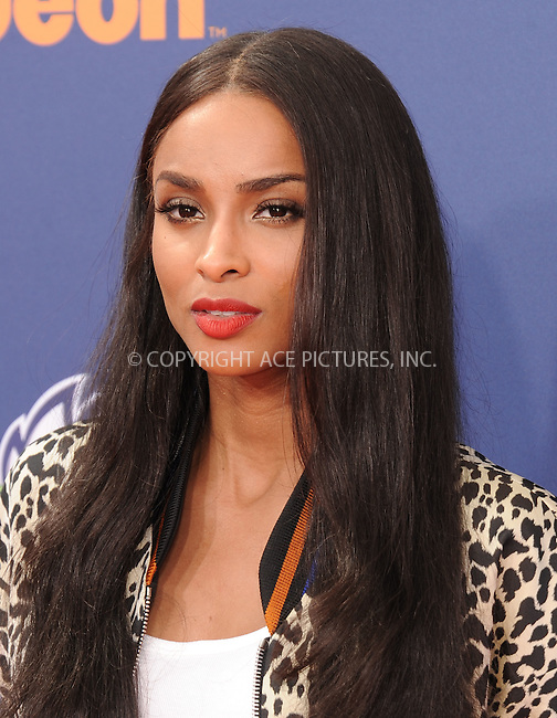 WWW.ACEPIXS.COM<br /> <br /> July 16 2015, LA<br /> <br /> Ciara arriving at the Nickelodeon Kids' Choice Sports Awards 2015 at UCLA's Pauley Pavilion on July 16, 2015 in Westwood, California.<br /> <br /> By Line: Peter West/ACE Pictures<br /> <br /> <br /> ACE Pictures, Inc.<br /> tel: 646 769 0430<br /> Email: info@acepixs.com<br /> www.acepixs.com