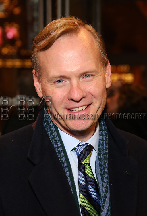 """John Dickerson attends the Broadway Opening Night Performance of """"John Lithgow: Stories by Heart"""" at the American Airlines Theatre on January 11, 2018 in New York City."""