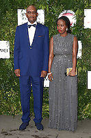 Samuel L Jackson and Sofia Davis<br /> arrives for the One for the Boys charity fashion event at the V&A Museum, London.<br /> <br /> <br /> ©Ash Knotek  D3133  12/06/2016