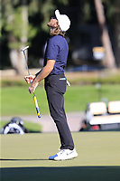 Tommy Fleetwood (ENG) misses his birdie putt on the 17th green during Friday's Round 2 of the 2018 Turkish Airlines Open hosted by Regnum Carya Golf &amp; Spa Resort, Antalya, Turkey. 2nd November 2018.<br /> Picture: Eoin Clarke | Golffile<br /> <br /> <br /> All photos usage must carry mandatory copyright credit (&copy; Golffile | Eoin Clarke)