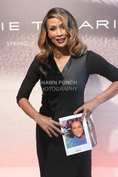 "Beverly Johnson attends the Elie Tahari Spring 2016 ""Future-Nature"" collection, during New York Fashion Week Spring 2016."