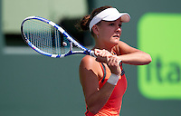 Agnieska RADWANSKA (POL) against Ekaterina Makarova (RUS) in the first round of the women's singles. Radwanska beat Makarova 7-5 6-0..International Tennis - 2010 ATP World Tour - Sony Ericsson Open - Crandon Park Tennis Center - Key Biscayne - Miami - Florida - USA - Thurs  25 Mar 2010..© Frey - Amn Images, Level 1, Barry House, 20-22 Worple Road, London, SW19 4DH, UK .Tel - +44 20 8947 0100.Fax -+44 20 8947 0117