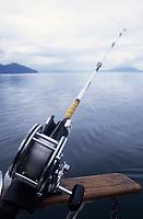 USA/Etats-Unis/Alaska/Gustavus : Pêche au saumon - Détail d'une ligne