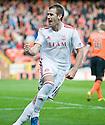 Aberdeen's Niall McGinn (10) celebrates after he scores Aberdeen's equaliser   ...
