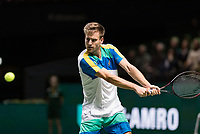 Rotterdam, The Netherlands, 11 Februari 2019, ABNAMRO World Tennis Tournament, Ahoy, first round match: Peter Gojowczyk (GET),<br /> Photo: www.tennisimages.com/Henk Koster