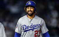Matt Kemp, durante el partido de beisbol de los Dodgers de Los Angeles contra Padres de San Diego, durante el primer juego de la serie las Ligas Mayores del Beisbol en Monterrey, Mexico el 4 de Mayo 2018.<br /> (Photo: Luis Gutierrez)