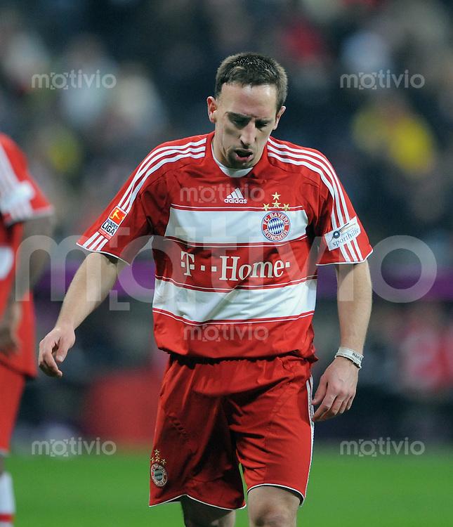 Fussball   1.Bundesliga 2008/2009   08.02.2009    19. Spieltag FC Bayern Muenchen  -  BVB Borussia Dortmund Franck Ribery (FC B)  enttaeuscht