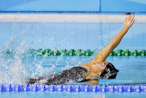 Miono Takeuchi (JPN),<br /> August 18, 2014 - Swimming : <br /> Women's 4100 m medley relay Final <br /> at Nanjing Olympic Sports Center<br /> during the 2014 Summer Youth Olympic Games in Nanjing, China. <br /> (Photo by Yusuke Nakanishi/AFLO SPORT)