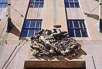 """New York City: Rockefeller Center, Maison Francaise. Alfred Janniot, """"France"""" 1934."""
