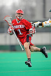 1 April 2008: Fairfield University Stags' Midfielder Nick Baglio, a Freshman from Bay Shore, NY, in action against the University of Vermont Catamounts at Moulton Winder Field, in Burlington, Vermont. The Catamounts rallied to overcome a five goal deficit and defeat the visiting Stags 9-8 notching their third win of the season...Mandatory Photo Credit: Ed Wolfstein Photo