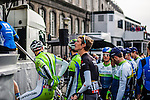 Andy Schleck (LUX,TFR) before the start, Liège, Belgium, 27 April 2014, Photo by Pim Nijland / www.pelotonphotos.com