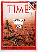 "Cover of Time Magazine  by Gunther Deichmann - Australia's ""Great Dry"""