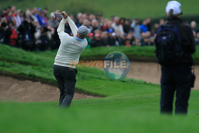 Stewart Cink plays his 2nd shot on the 6th hole for the second session of Fourball Match 2  during Day 1 of the The 2010 Ryder Cup at the Celtic Manor, Newport, Wales, 29th September 2010..(Picture Eoin Clarke/www.golffile.ie)